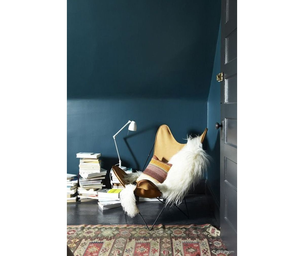 Tete De Lit Bleu Canard Peinture la peinture foncée aux murs, on ose ! - 31m2