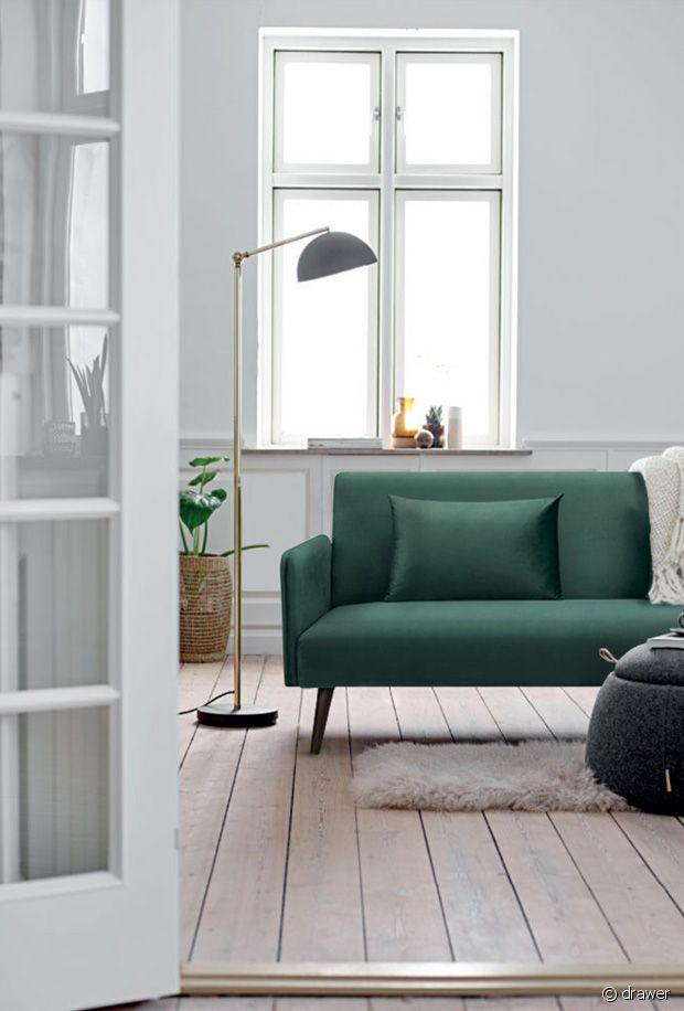 Le canapé en velours vert : un indémodable