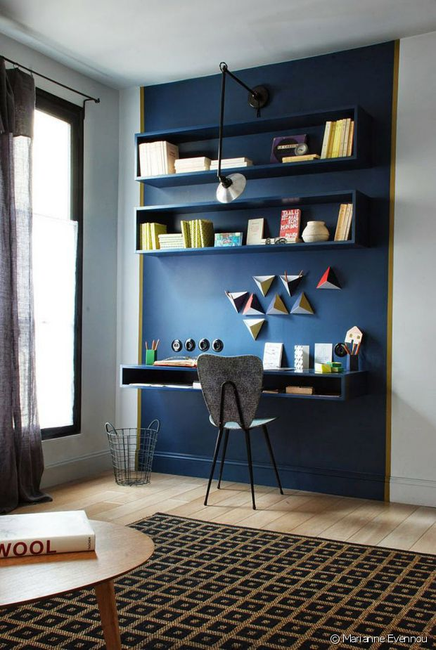 comment am nager un coin bureau dans le salon. Black Bedroom Furniture Sets. Home Design Ideas