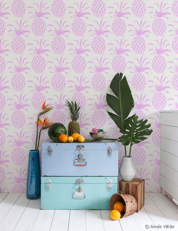 L'ananas s'affiche même aux murs !