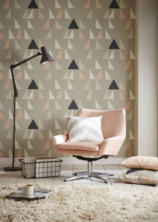 pour ou contre le papier peint motifs. Black Bedroom Furniture Sets. Home Design Ideas