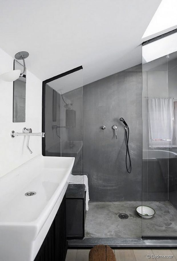 Béton salle de bain