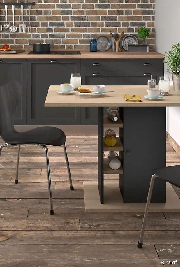 Un îlot idéal pour séparer une cuisine ouverte d'un salon par exemple