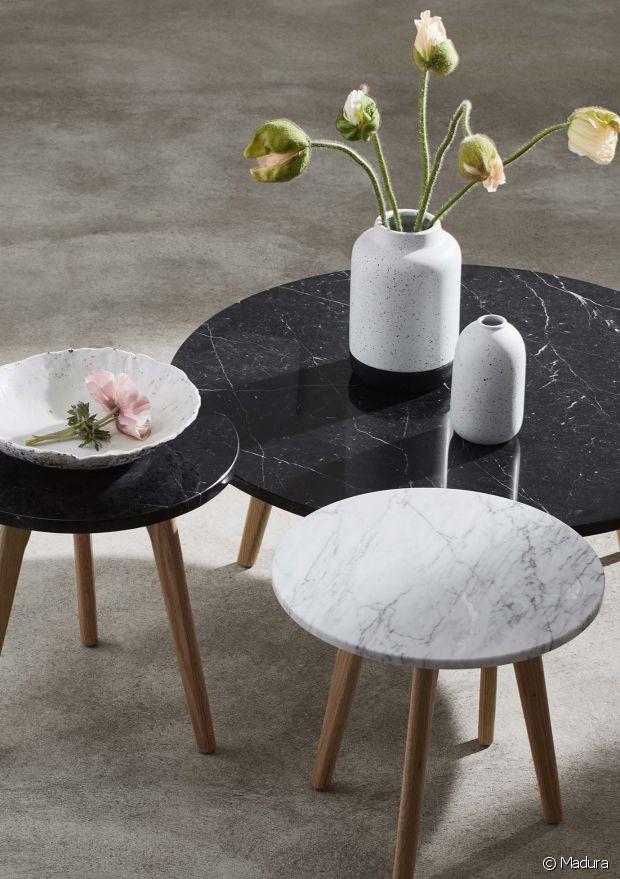 Table en marbre : sélection de modèles pour le séjour - 31m2