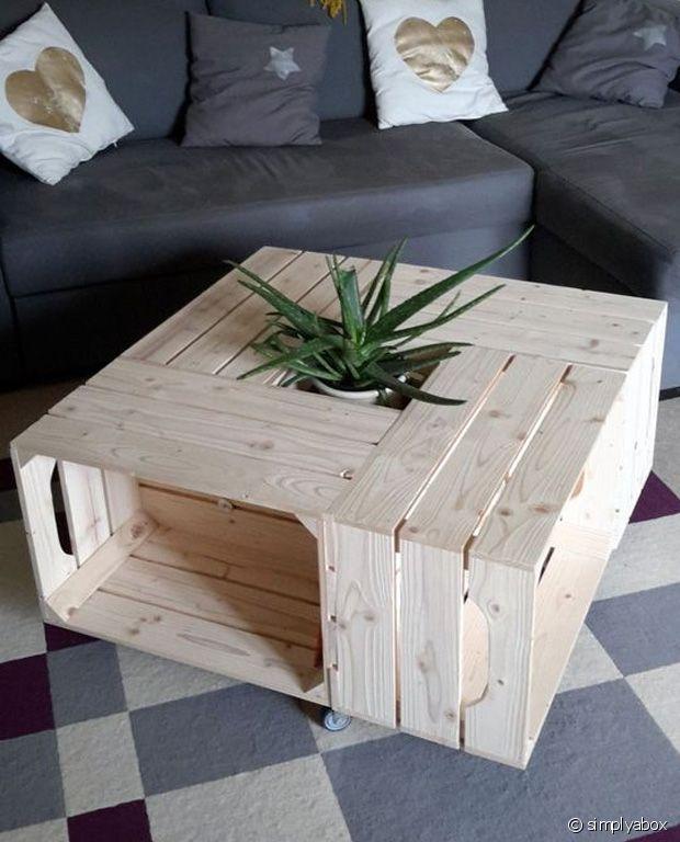 Et voilà : une toute nouvelle table basse stylée !
