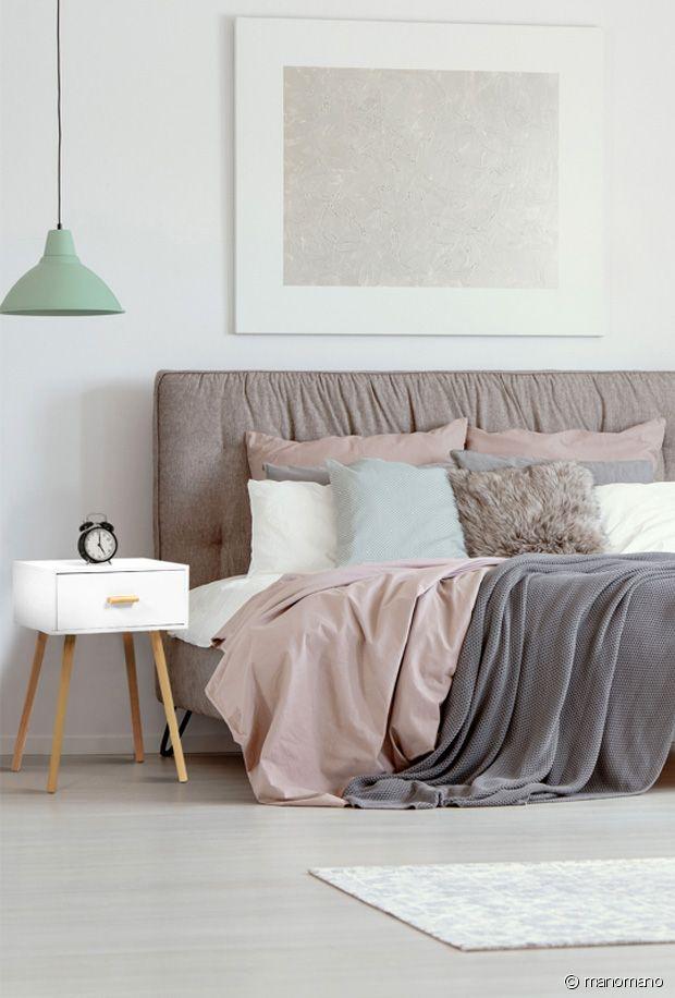 Sélection de mobilier et de petite décoration pour une chambre scandinave stylée