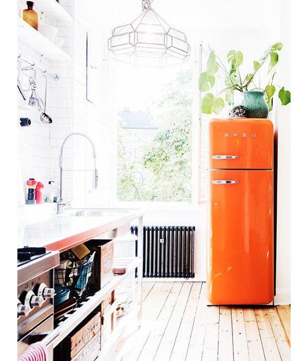 Un frigo orange... Vous y aviez déjà pensé ?