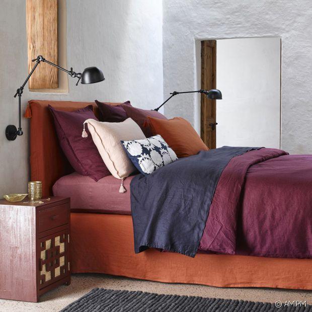 ampm linge de lit Linge De Maison En Lin Lav. Amazing Housse De Couette Lin Lav Uni  ampm linge de lit