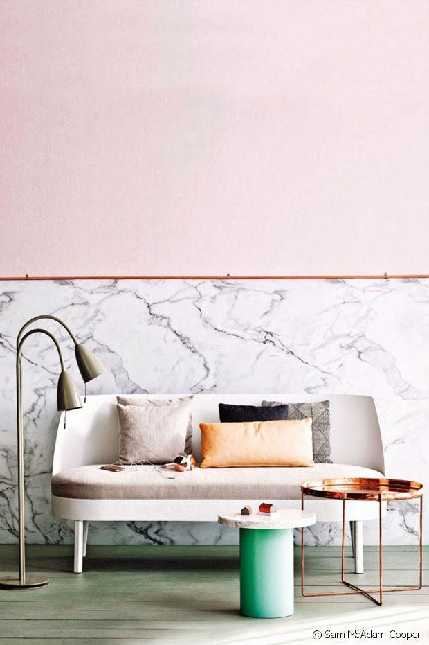 Vrai marbre ou papier peint imprimé ?