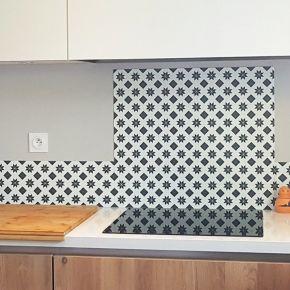 New carreau de ciment   crédence cuisine en...