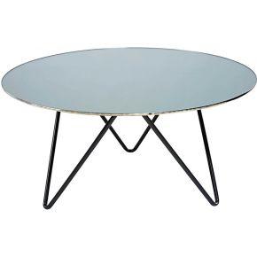 Table basse en verre trempé effet miroir et...