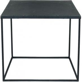 Table basse indus en métal noire effet vieilli...
