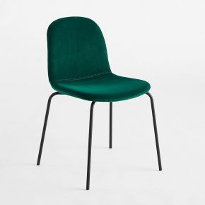 Chaise velours tibby vert - am.pm