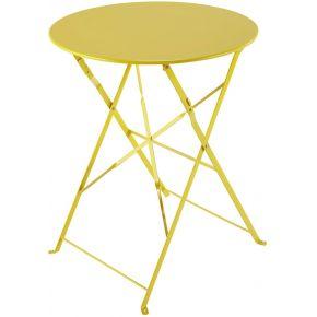 Table de jardin pliante en métal jaune d58...