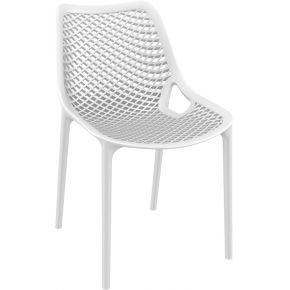 Chaise moderne 'blow' blanche en matière...