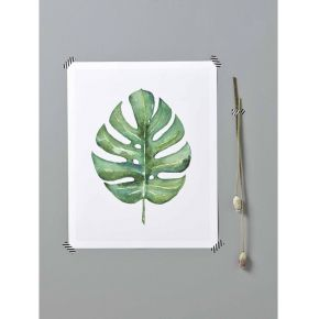 Affiche tropicale vert - cyrillus