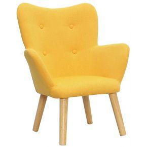 Miliboo fauteuil enfant design jaune baby bristol