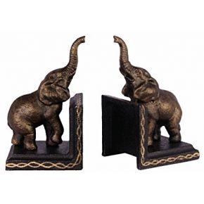 2 serre-livres éléphant fer statuette style...