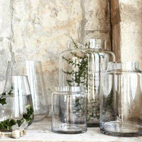 Vase en verre transparent (plusieurs tailles)