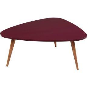 Table basse vintage bordeaux andersen