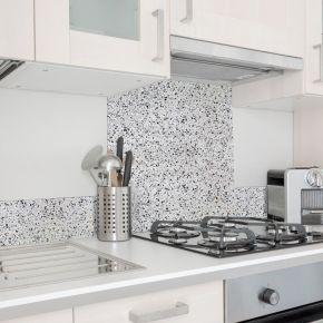 Terrazzo   crédence cuisine en aluminium effet...