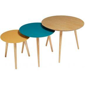 3 tables gigognes tricolores fjord